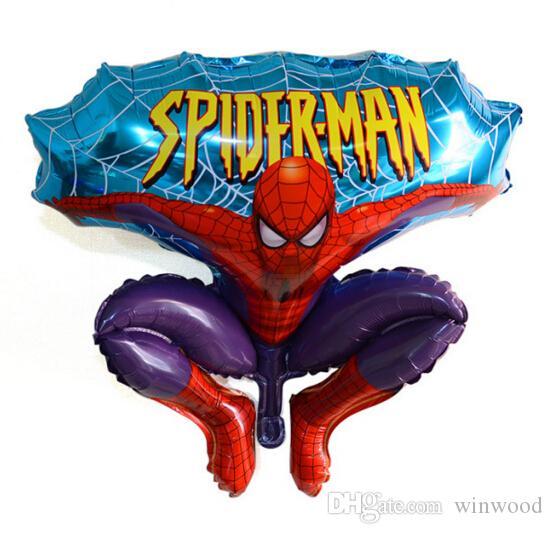 Cartoons Balloons Aluminium Spiderman Red Balloon für Hochzeit Geburtstagsfeier Dekoration Cartoons Folienballon Party Supplies