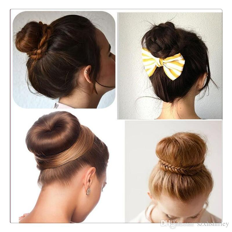 Magic Hair Bun Maker Bows French Twist Hair Styling Ties Girl Hair DIY Styling Donut Former Foam Bun Maker Accessories Free DHL