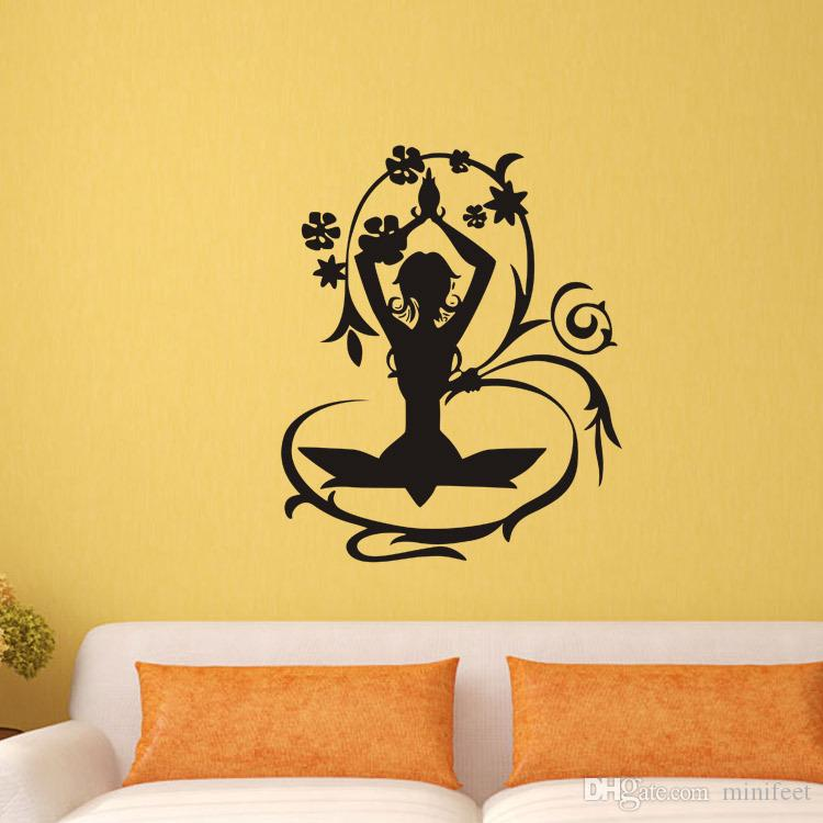 Vinly flower fairy arts waterproof wallpaper personality creative living room bedroom decoration wall stickers removable stickers
