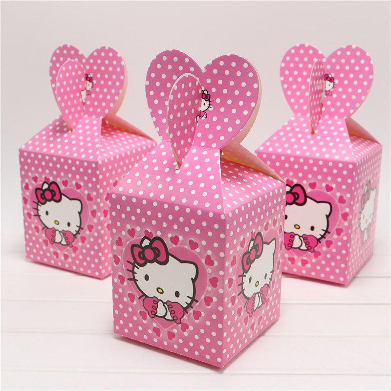 Wholesale Cute Cartoon Hello Kitty Candy Box Decor Baby Shower Party