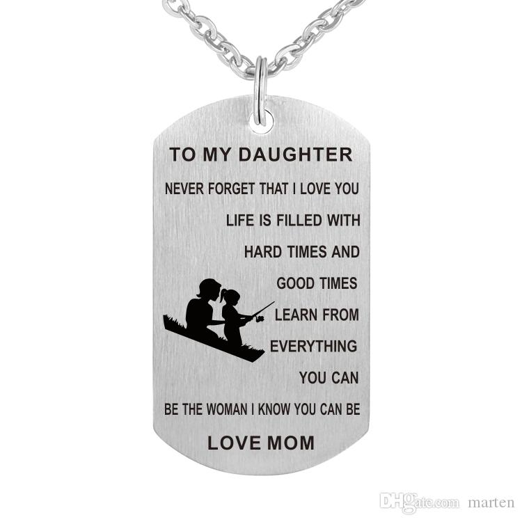 Download Wholesale Mom To My Daughter Necklace Personalized Custom ...