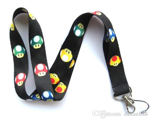 Wholesale Mixed Popular Cartoon Super Mario Mobile phone Lanyard Key Chains Pendant Party Gift Favors 0064