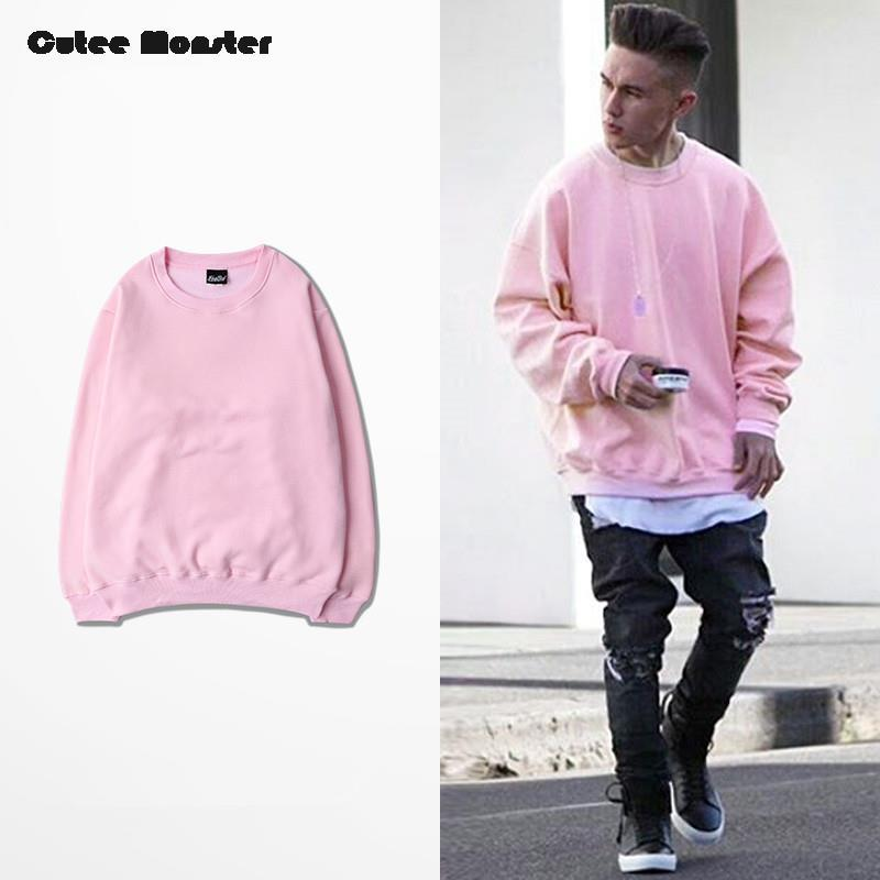 d4df057b460b8 2019 Wholesale Pink Hoodies Men 2016 Autumn Mens Hip Hop Fleece Sweatshirts  Tracksuit Street Sportswear Winter Solid Pullover Male Streetwear From  Donahua
