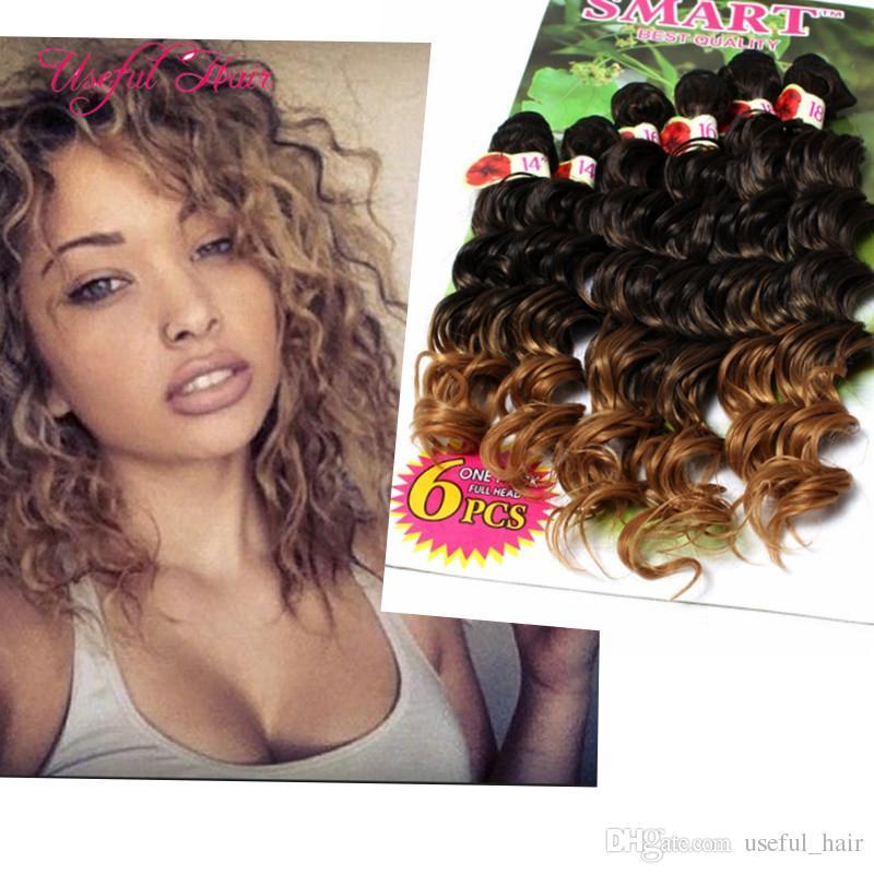 Hot Sell Deep Wave Bundles Brazilian Kinky Curly Hair Weaves Marley