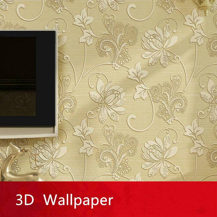 Wholesale European Style Modern 3d Embossed Tv Background Mural