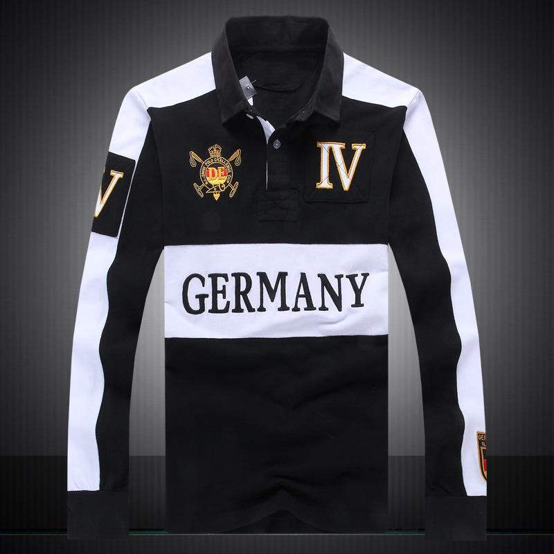 2019 Shirt GERMANY Polos Polo Long Sleeve Summer Hot Men 2017 Sale rOPqrg