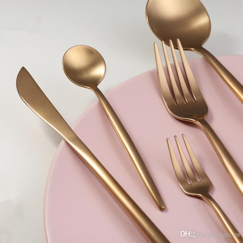 Kubac Rose Gold Stainless Steel Dinnerware Fork Knife Scoops Dessert Forks Cutlery Set Cutipol Tableware For Party Corelle Dinnerware Sets Clearance Country ... & Kubac Rose Gold Stainless Steel Dinnerware Fork Knife Scoops Dessert ...