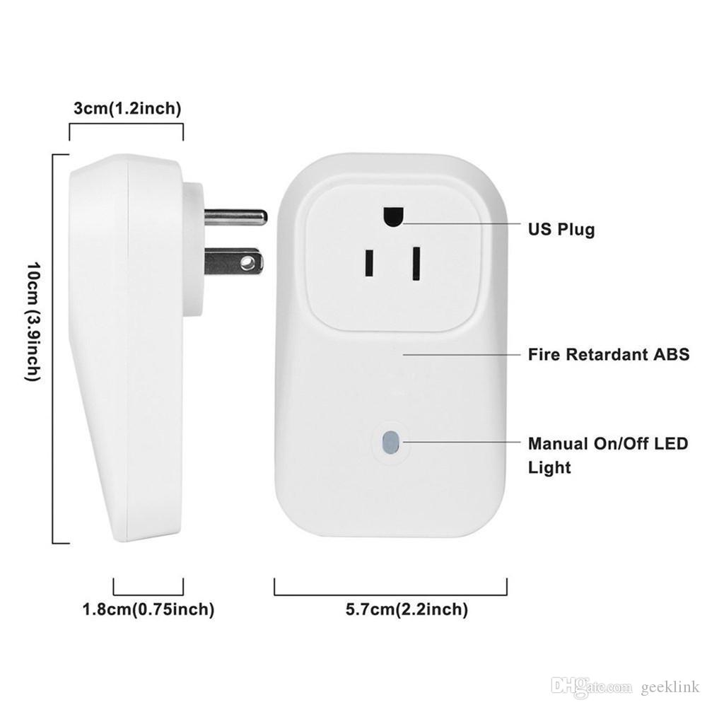 Us/Usa Standard Smart Home Automation Wifi Outlet Usa Remote Wifi ...