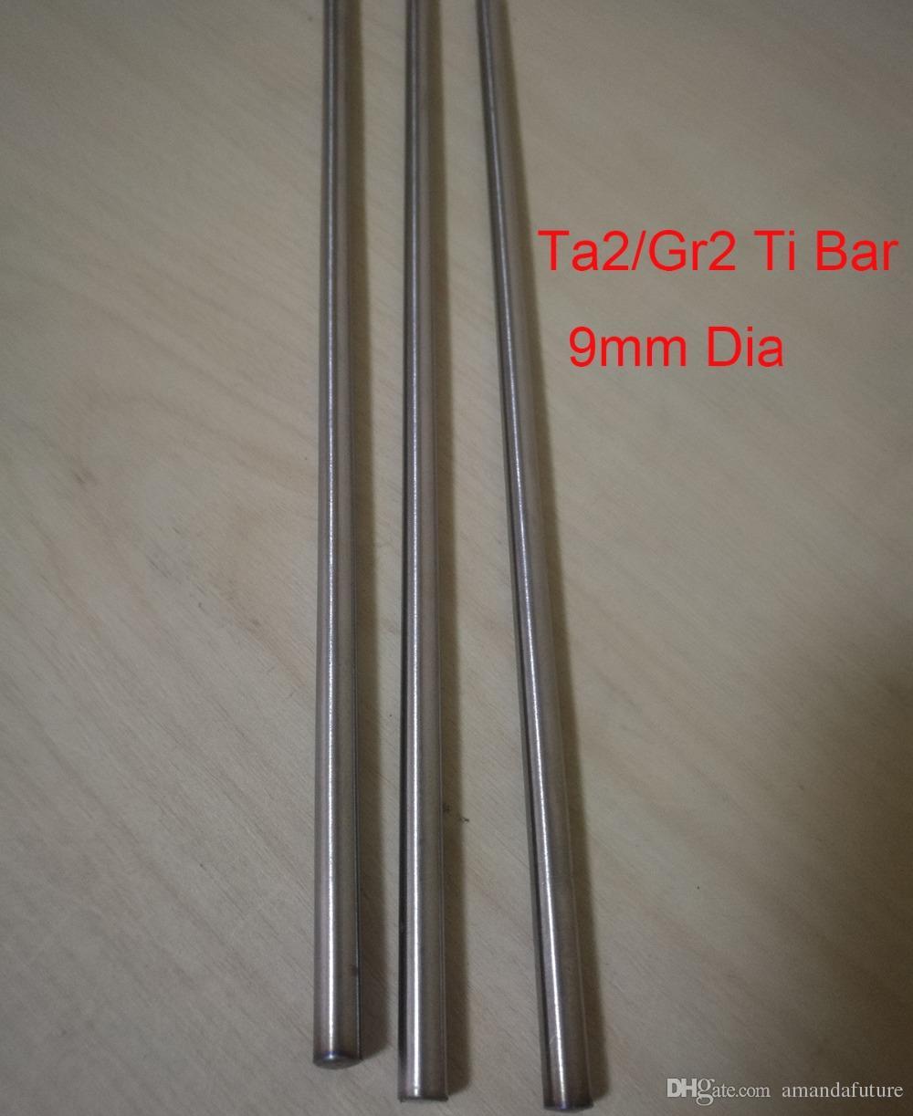 9mm Dia Ta2 Titanium Bars Industry DIY GR2 Ti Rod,about 300 mm/pc,3pcs/lot