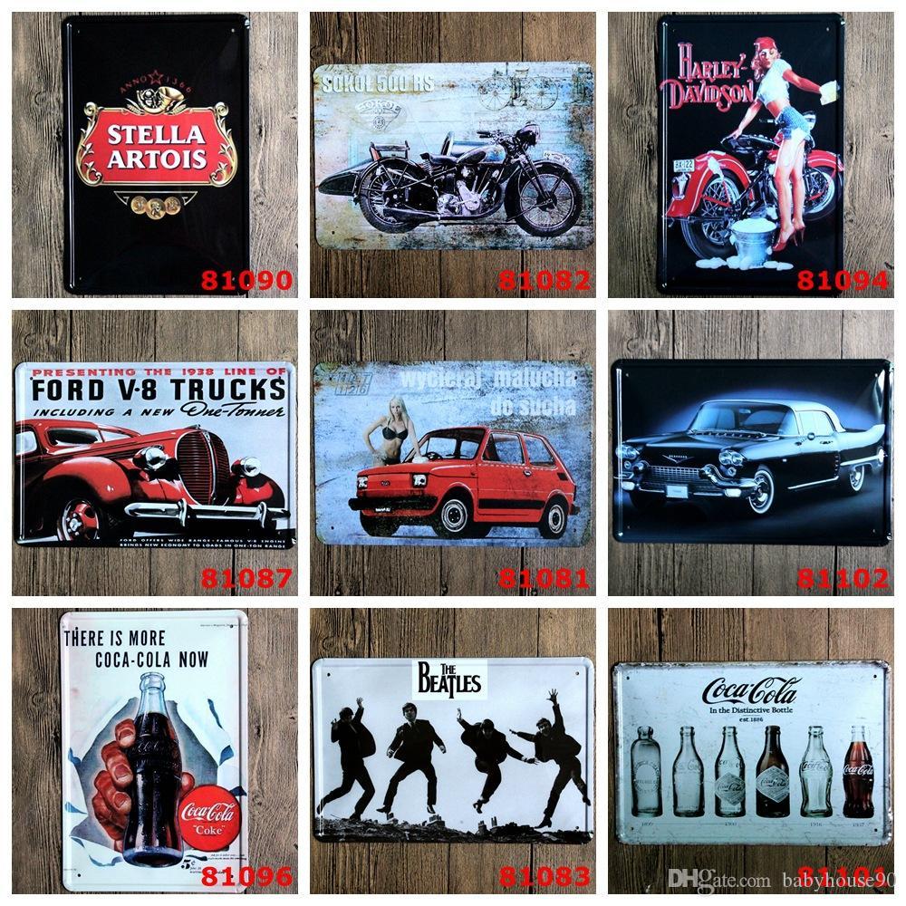 Tin Wall Decor 2017 20*30cm coca cola beer tin poster wall decor antique