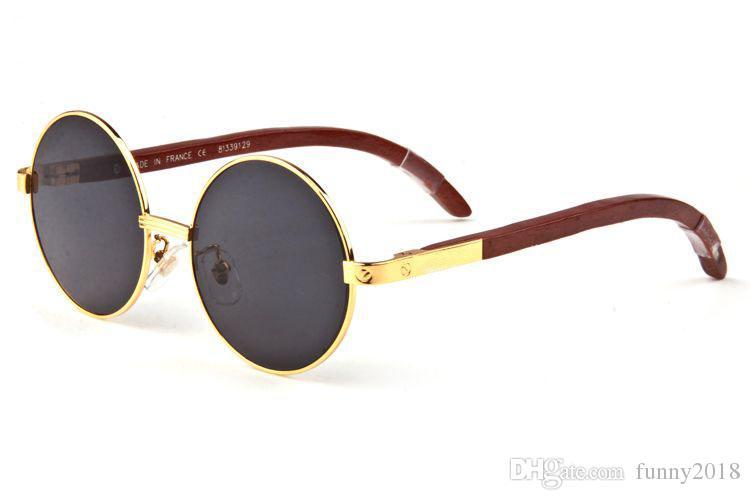 871a6e82d57c7 ... Lunettes de soleil pas cher pour homme marque wrapeyeglasses lunettes  de soleil rondes en bois polarisées ...