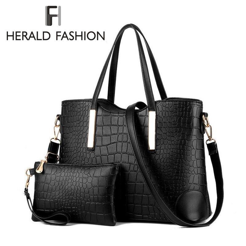 Wholesale Crocodile Women Messenger Bag Handbags Composite Shoulder Bags PU  Leather Top Handle Bags Tote Purse Herald Fashion New Hobo Handbags Italian  ... f095a144f1ae6