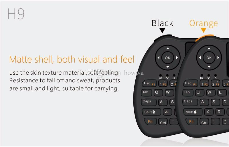 2.4GHz Wireless H9 Fly Air Mouse Mini QWERTY Keyboard with Touch Pad Android TV Box Remote Control Gamepad Controller UP