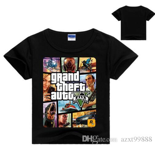 f471a88f241c Grand Theft Auto New 3-8Years Old Children Boys Girls T-Shirt Summer ...