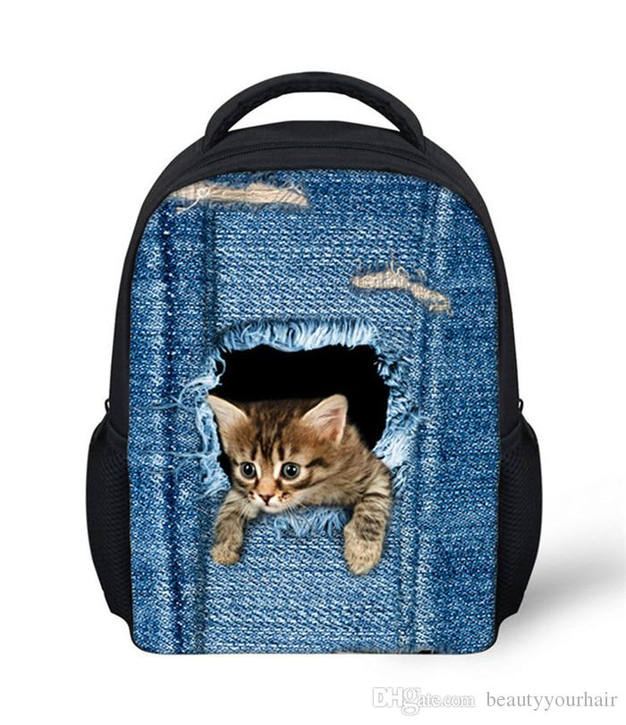 02906af2f5ed Children 3D Cute Cat Backpacks Kids Shoulder School Bags Outdoor Casual  Travel Rucksacks Knapsacks Bookbags For Teenagers Popular Brands Of  Backpacks School ...