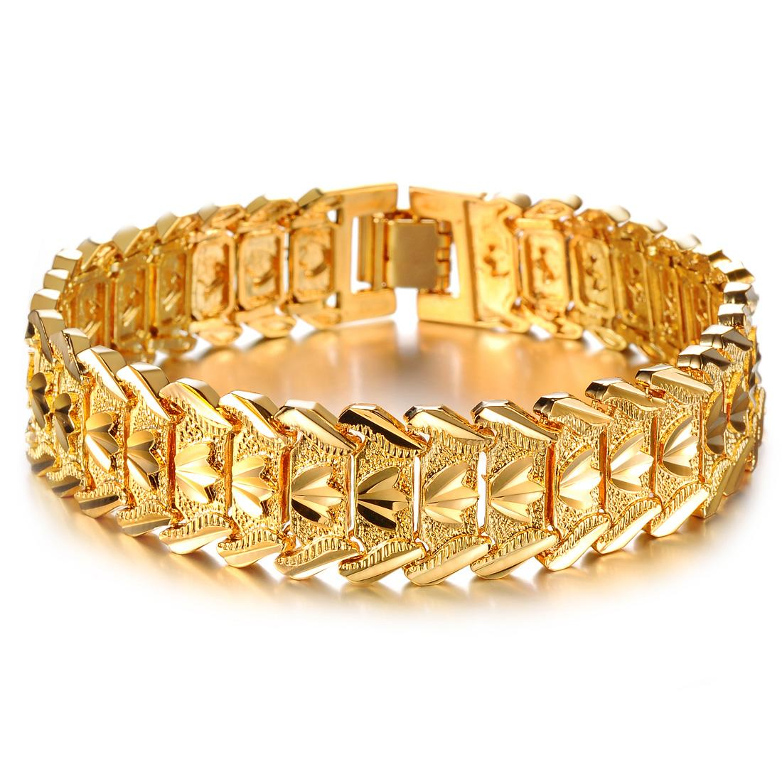 2018 Wholesale Fashion Accessories Male Gold Bracelet Personalized ...