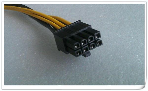 Freeshipping 100 pz / lotto Alta qualità 4 pin a 8 pin PCI-E scheda grafica Cavo di alimentazione pin a 8pin cavo di alimentazione