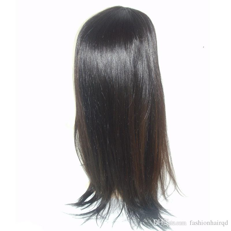 Cheap Full Lace Human Hair Wigs For Black Women Straight Indian Virgin Hair Lace Front Wigs With Natural Hairline Baby Hair Around