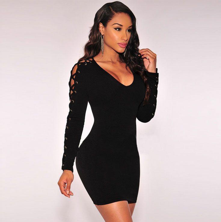 Tight black dresses short