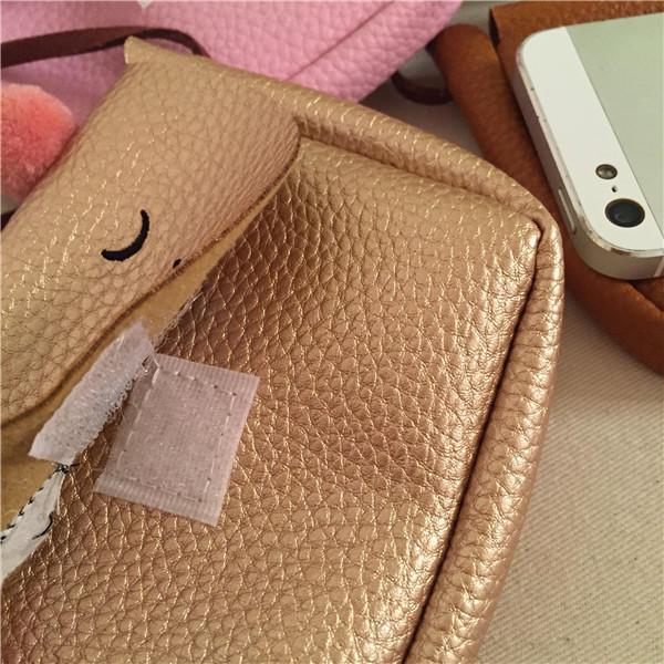 Everweekend Filles Pu Cuir Hangbags Mignon Chats Purse Cross-Body Sacs Bonbons Couleur Croix Sacs Sweet Enfants Accessoires de Mode