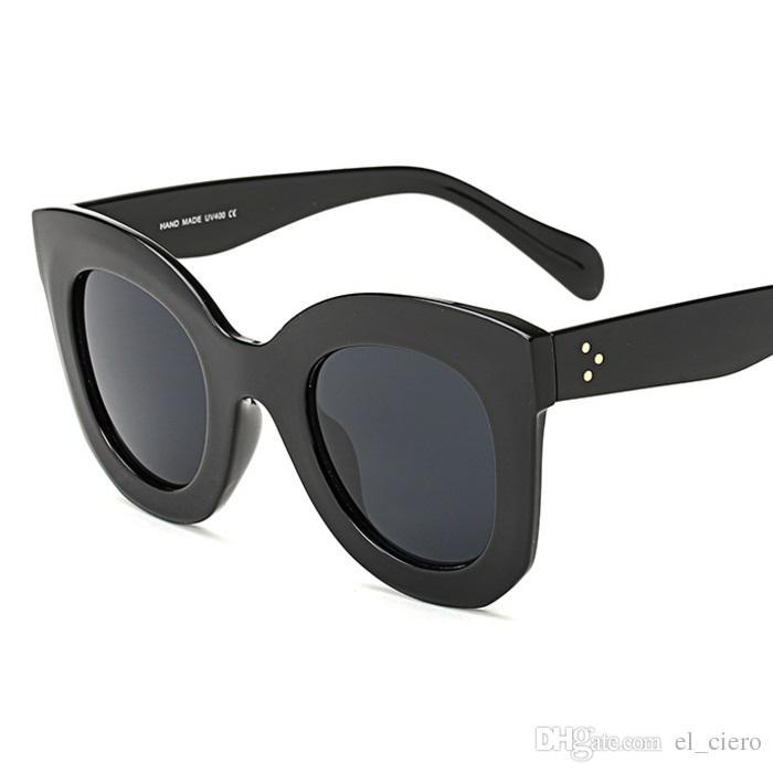 1661d9331f9 EL CIERO High Quality Cateye Sunglasses For Women   Men Summer ...