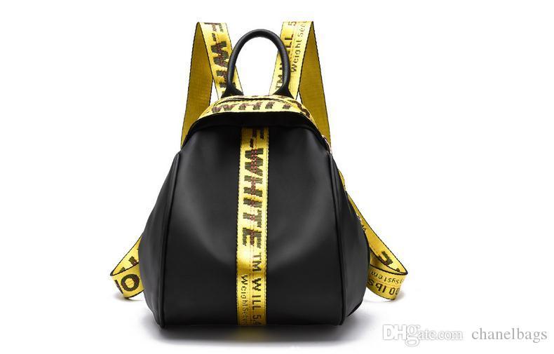 New Designer Bag Spring New Off White Ribbon Oxford Cloth Shoulder ...