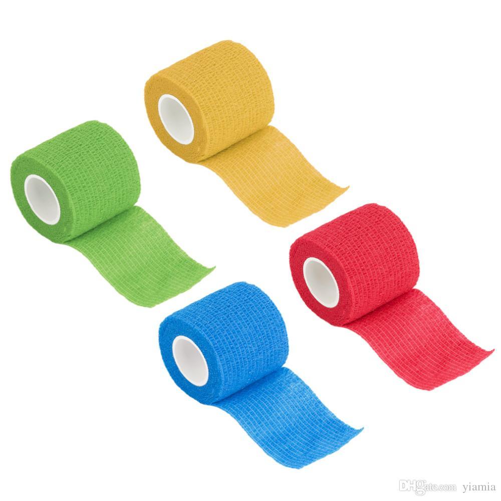 Yeni Varış Kendinden Yapışkanlı Bandaj Sarar Elastik Yapıştırıcı Ilk Yardım Teyp Streç 5 cm ücretsiz kargo