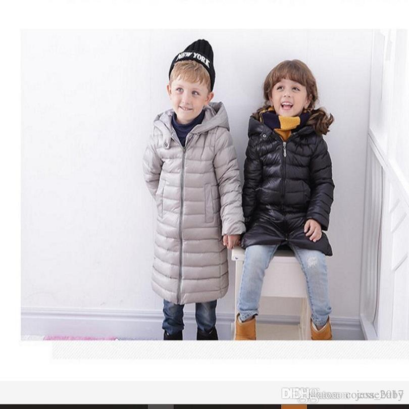 Long Coat Kids Winter Clothes Baby Down Parka Winter Warm Jacket ...
