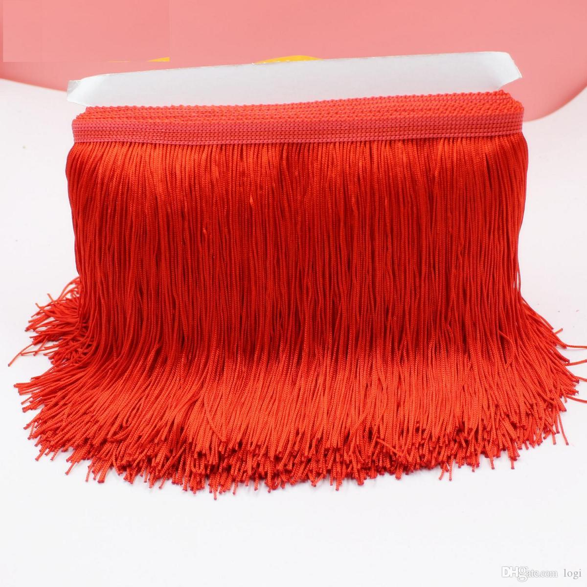 b090843d67c 2019 YACKALASI 10 YardsLatin Fringe Tassel Trimming Polyester Single Band  Latin Macrame Latin Dress Trims Samba Skirt Tassel 15CM From Logi