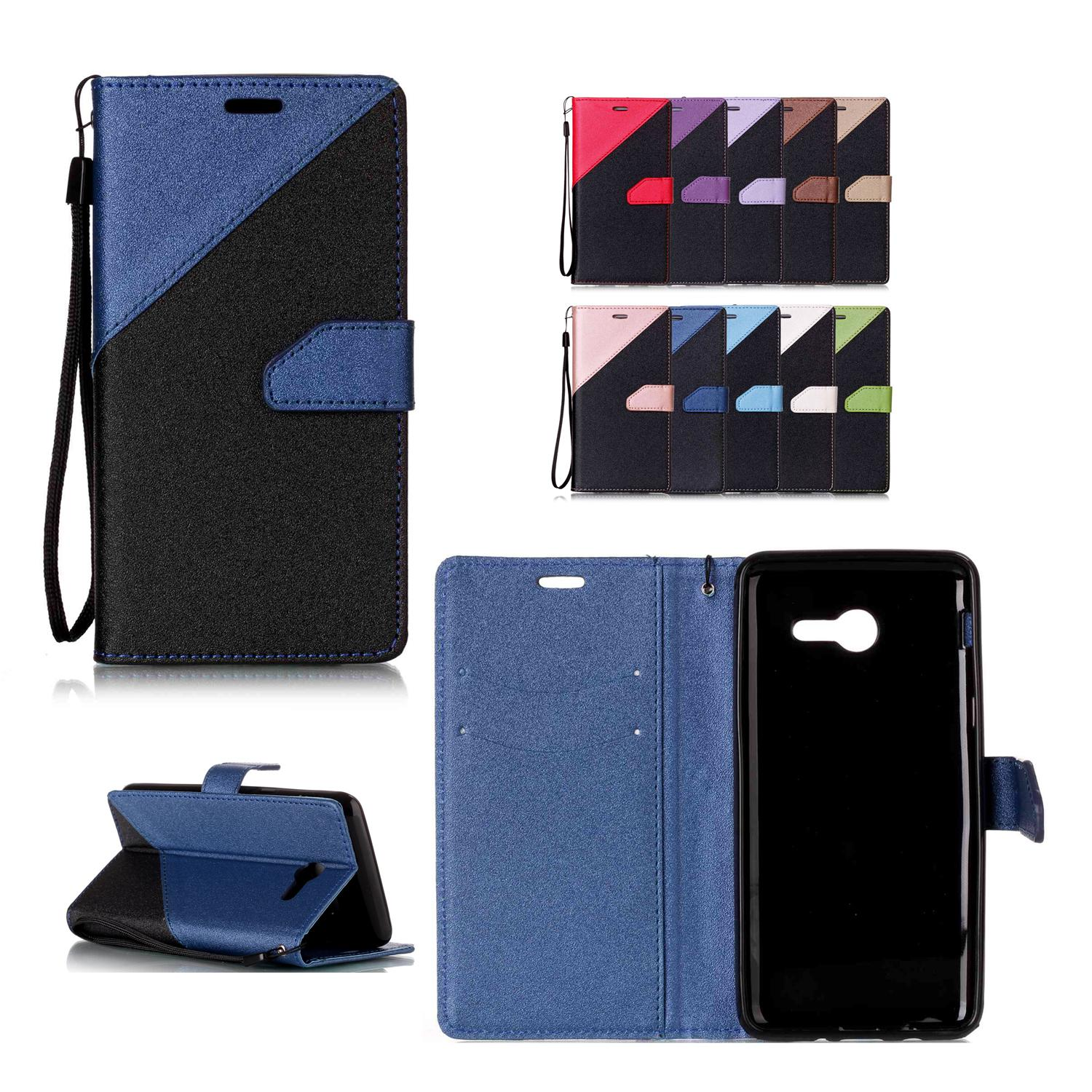 Phone Cases Covers for Samsung Galaxy J520 J5 2017 PU Leather with Card Slot Hand Strap Sand Beach Surface Design Galaxy J5 2017 Case Galaxy J5 Cover Galaxy
