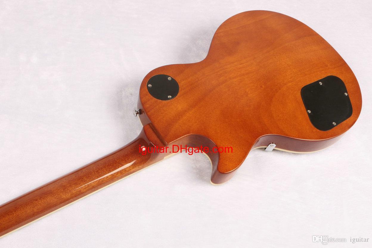 Китай гитара 1959 Джимми Пейдж Тигр мед взрыв электрогитара в наличии новое прибытие Бесплатная доставка