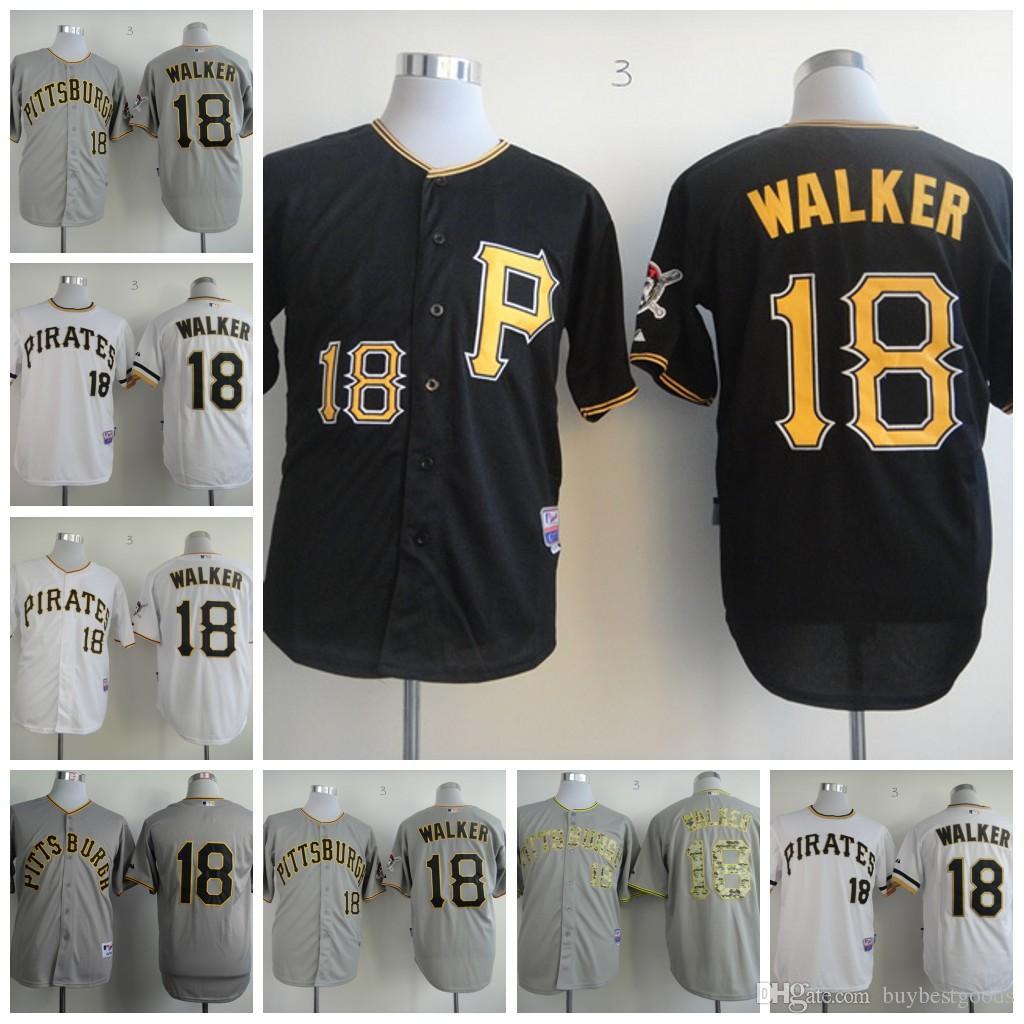 cool base 2017 mlb baseball jerseys pittsburgh pirates neil walker 18 jersey black white grey cheap wholesale stitched