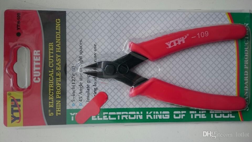 125mm YTH-109 Pinza a crimpare Snip Mini Cutter elettrico Manico rosso