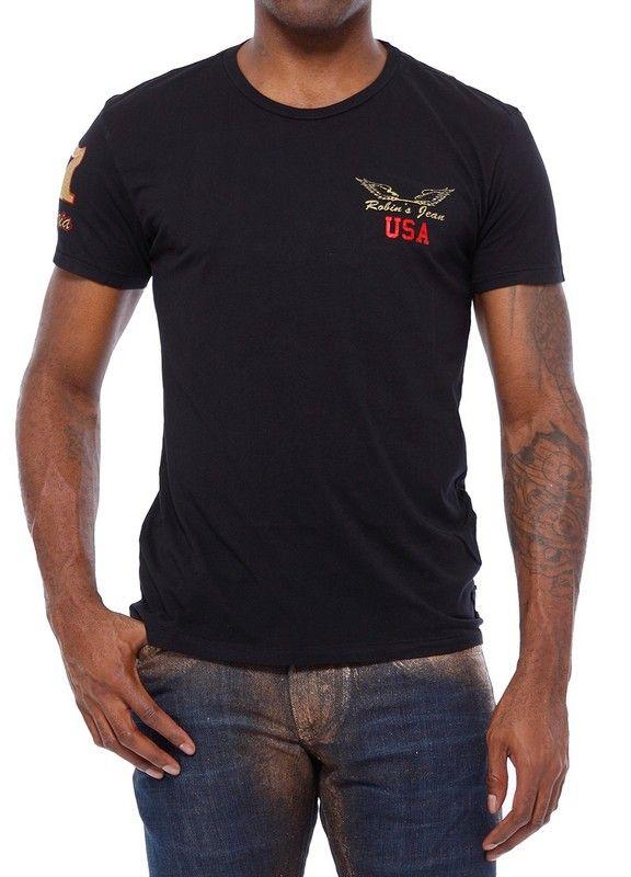2016 Top T-shirt fashion design Robin Jeans t-shirt da uomo T-shirt da uomo Robin magliette a manica corta Robins magliette big size M-3XL da uomo Wear