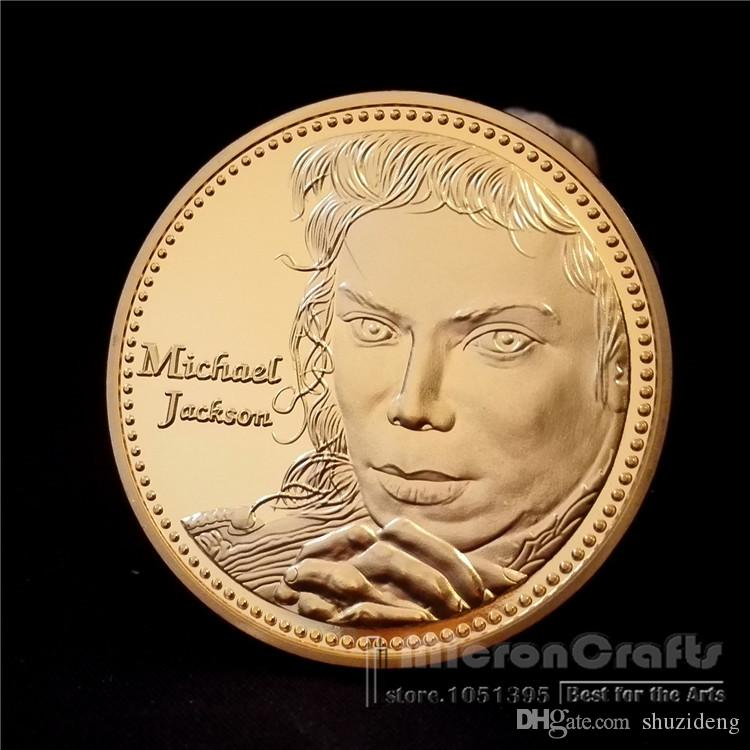 The King of Pop Michael Jackson Music Superstar Gold Commemorative Coin  Token Michael Jackson Star Hollywood Online with  8.0 Piece on Shuzideng s  Store ... 09cf97503931