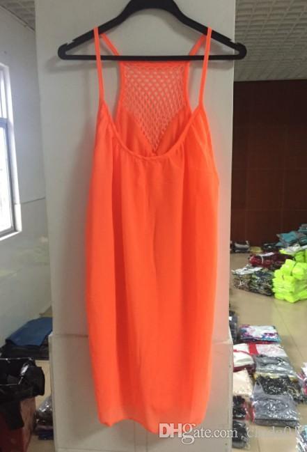 été 2017 nouvelles femmes plage occasionnels robes en mousseline de soie vêtements sexy femme boho sangle spaghetti maxi robe sans manches robe de vacances lâche