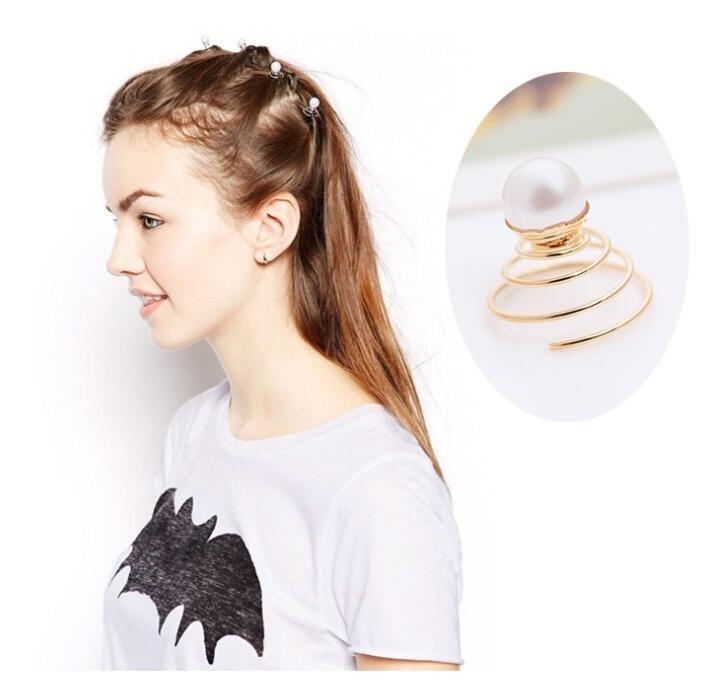 Pearl Star Capelli Clips Lega Girl Girl Donne HairGrip Accessori capelli da sposa Monili di moda Adult Solid Vite morsetto a vite