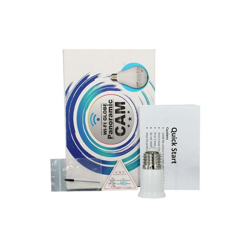 WIFI GLobe Panorama Cam P2P Lâmpada Bulbo mini câmera IP HD 960 P Gravador de Áudio e Vídeo Câmera de Luz LED sem fio APP Vigilância Remota