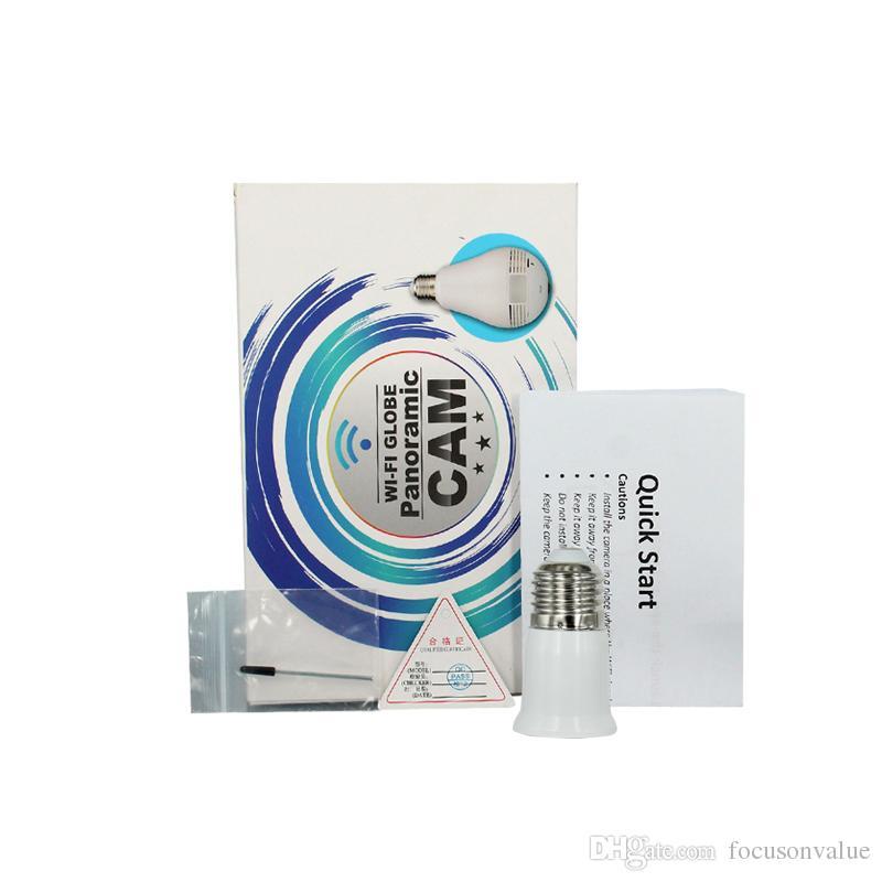 WIFI GLOBE Panorama Kamera P2P Lampe Mini IP Kamera HD 960P Video Audio Recorder LED Licht Kamera Wireless APP Fernüberwachung