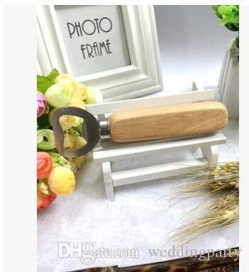 Hot sale Stainless steel wooden handle Red wine beer bottle opener never deformation new arrival