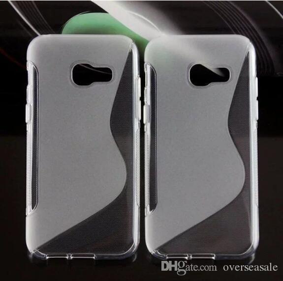 For Samsung Galaxy S8 Plus EDGE 2017 A3 A5 A7 J5 J7 Prime 2016 S line Grip Wave Soft TPU Gel Rubber Clear skin Phone back cover case