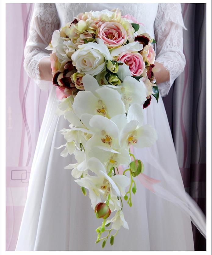 2017 High Quality Handmade Artificial Bridal Waterfall Wedding