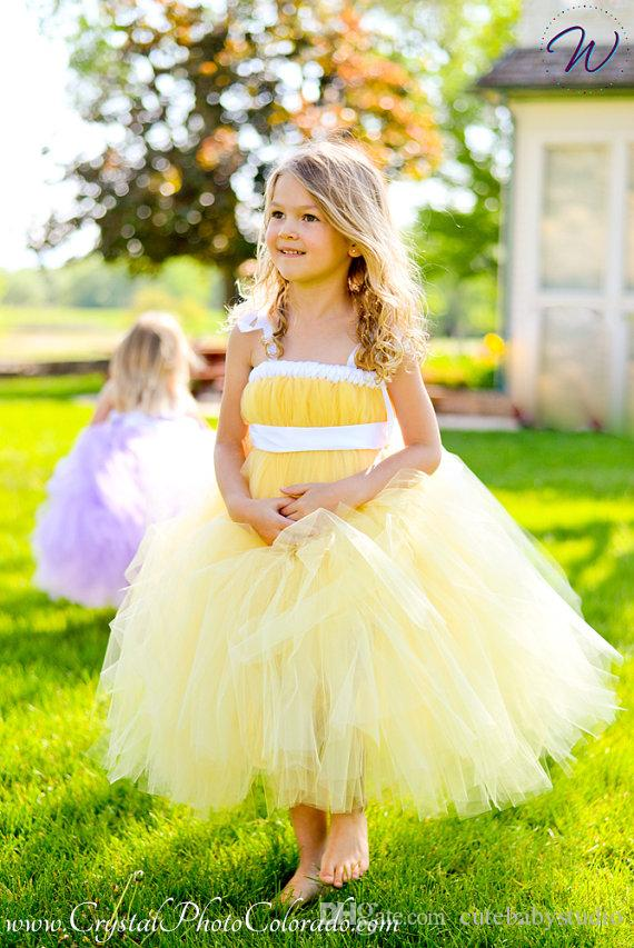 ccc73ee64 2019 New 2017 Tulle Gray Baby Bridesmaid Flower Girl Wedding Dress Fluffy  Ball Gown USA Birthday Evening Prom Cloth Tutu Party Dress From  Cutebabystudio, ...