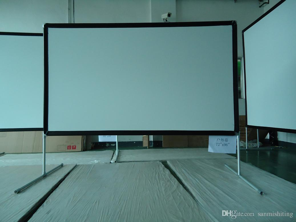 100 u0027 u0027 16 9 portable outdoor movie screen for backyard theater with