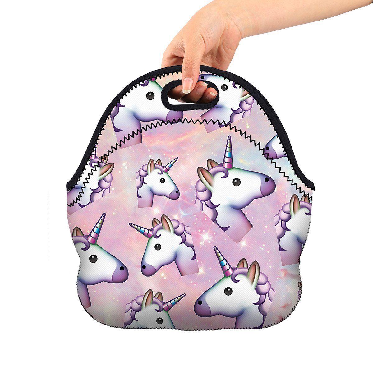 8acffc525686 Kids Soft Friendly Insulated unicorn Lunch box Food Bag Neoprene Gourmet  Handbag lunchbox Cooler warm Pouch Tote bag For School work