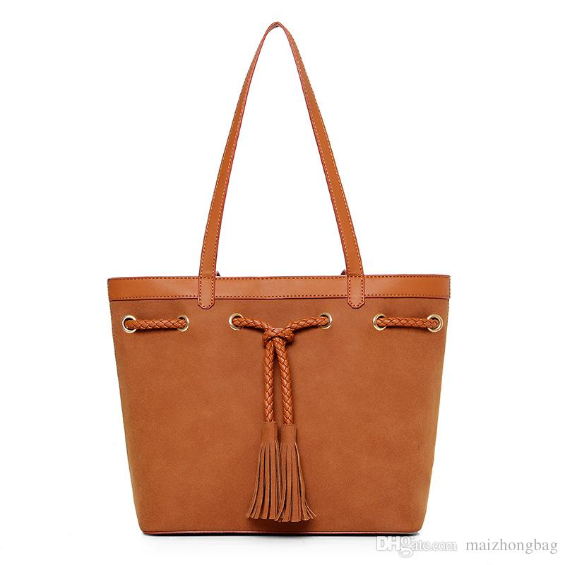 2017 Sweet Lady Frosted Tassels Handbag Fashion Best Mr Single Shoulder Handbag  Manufacturer Wholesale Women Bags Handbags On Sale Leather Bags From ... a46829bfdeca2