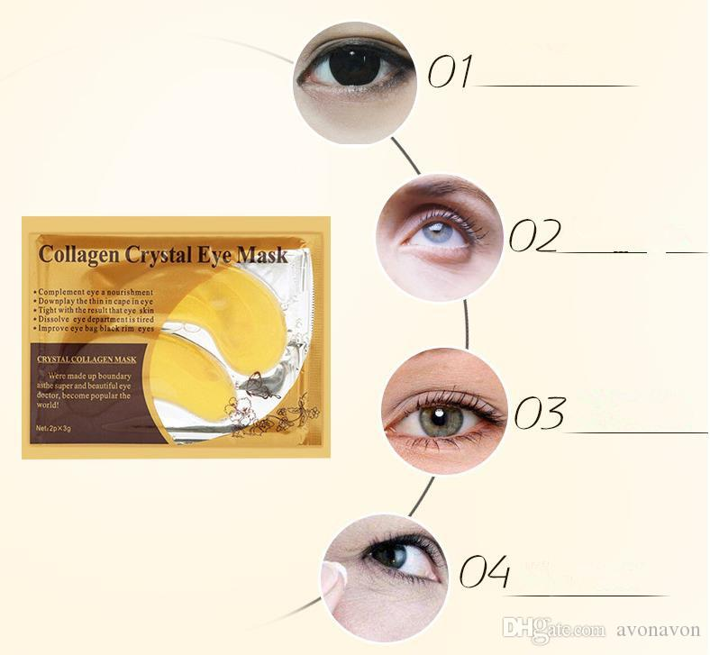 top items PILATEN Collagen Crystal Eye Masks moisturizing Eye masks collagen gold powder eye mask DHL