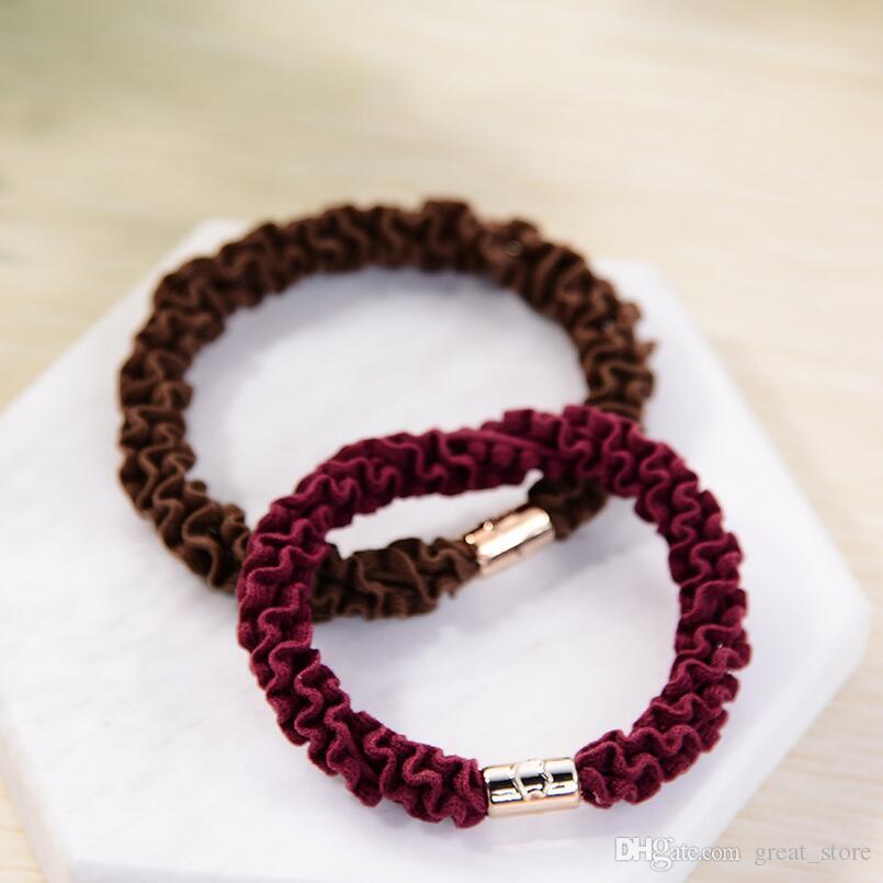 Good A++ Simple hair circle new girls hair tie hair wave rubber band FQ011 a