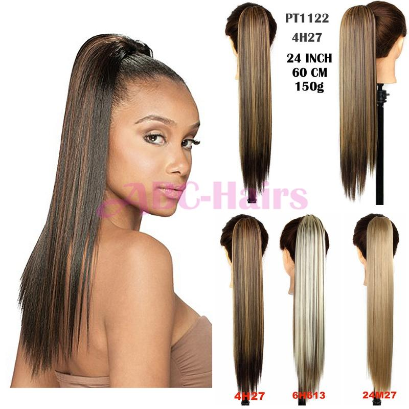 Wholesale Claw Clip Drawstring Ponytail Hair Extensions Postiche