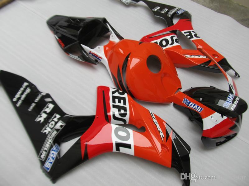 Moulage par injection kit de 7 carénages gratuit pour Honda CBR1000RR 04 05 ensemble carénages noir rouge CBR1000RR 2004 2005 OT18